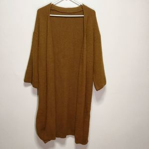 Sweaters - Rust Color Wool Duster